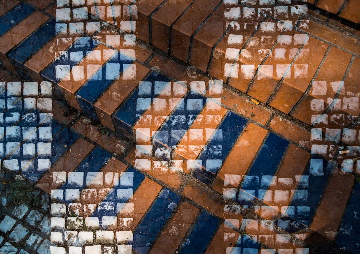 Der Blick nach unten auf der Mathildenhöhe Darmstadt